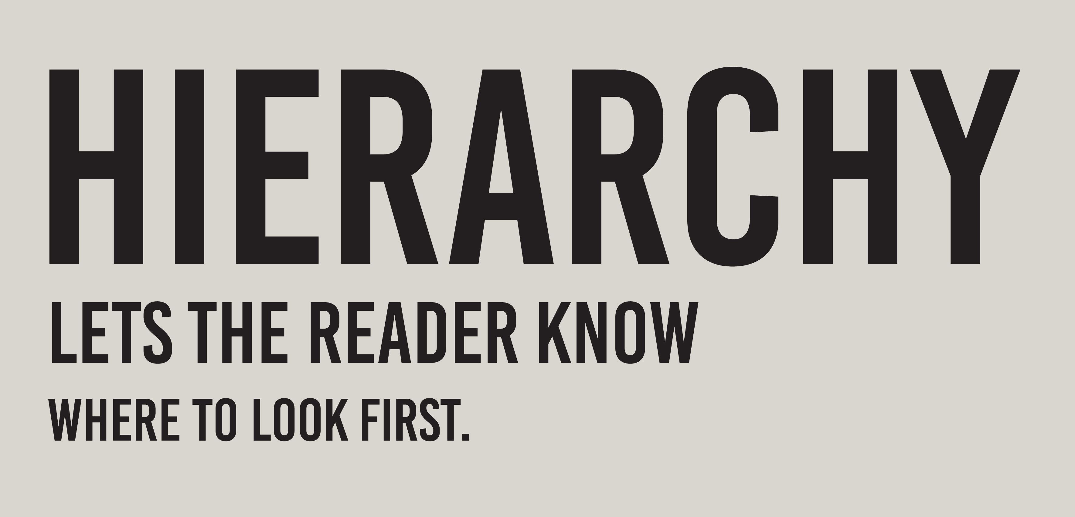 hierarchy in typography yearbooksmakemecrazy com